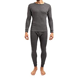 MT Men's Ski & Thermal Underwear Set - Warm Underwear Longsleeve with Inner Fleece - Anthracite M