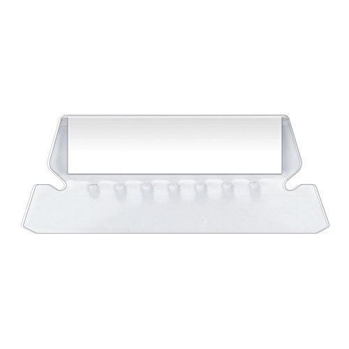 Pendaflex Insertable Plastic Tabs Hanging Folder Tabs, 2', Clear, 25 Tabs and Inserts per Pack (42)