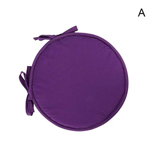 2PCS Comfortable Round Chair Cushions With Ties Seat Pads For Dining Chairs Pad Kitchen Thick Italian Fabric Garden Square Removable Cover Indoor Outdoor Living Room Patio Garden,A,30cm x 30cm
