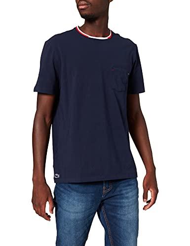 Lacoste Herren TH3449 Pyjama-Tops, Marine, XS
