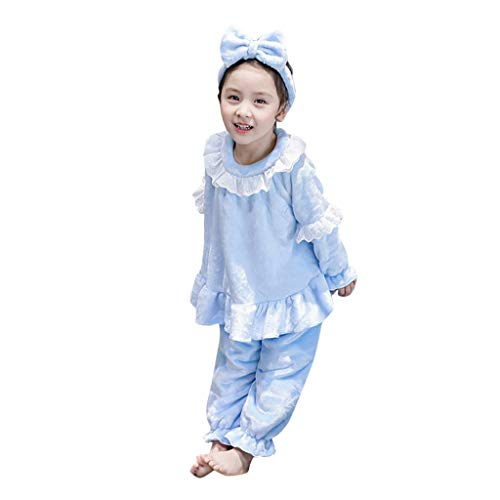 Conjunto de Trajes de niños pequeñosConjuntos de Pijamas Suaves para niñas y bebés con Volantes para bebés y niños pequeños Conjuntos de Pijamas Suaves