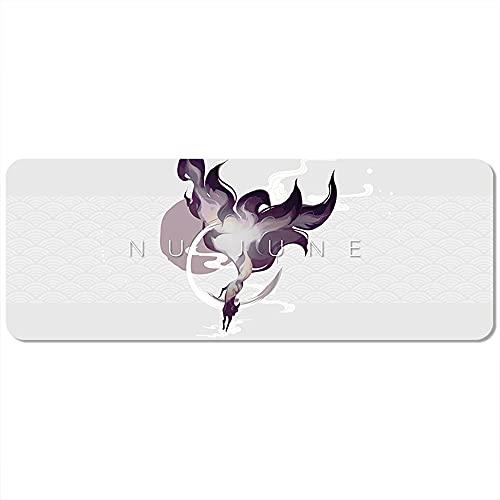 WPC Brands Soporte para esterilla de yoga Nu-June, 183 x 68 cm, 5 mm, con línea de posición, antideslizante, para principiantes, fitness, gimnasia, yoga, color marfil