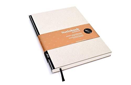 Notizbuch A5 hardcover | handmade in Germany | Skizzenbuch A5 blanko | Journal A5 | Streifen tyyp | nachhaltige Notizbücher | Öko-look Natur-Design