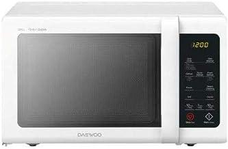 Daewoo KQG‐81RW - Microondas (Encimera, Microondas combinado, 23 L, 800 W, Botones, Giratorio, Negro, Blanco)