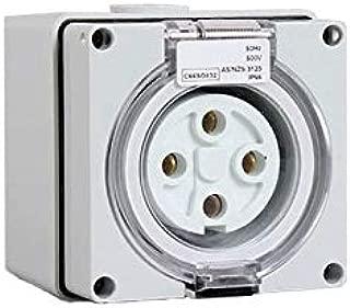 Gimax IP67 Australia Standard 4P Round Waterproof Sockets Waterproof Industrial Plugs Sockets - (Pins: 4P 20A)