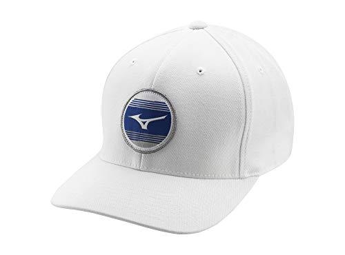 Mizuno 919 Snapback Golf Hat, White, One Siz