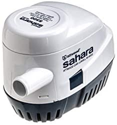attwood 4505-7 Sahara S500 Automatic Bilge Pump, 12-Volt, 1.5-Amp Draw, ¾-Inch Interior Diameter Hose, 29-Inch 16-Gauge Wire