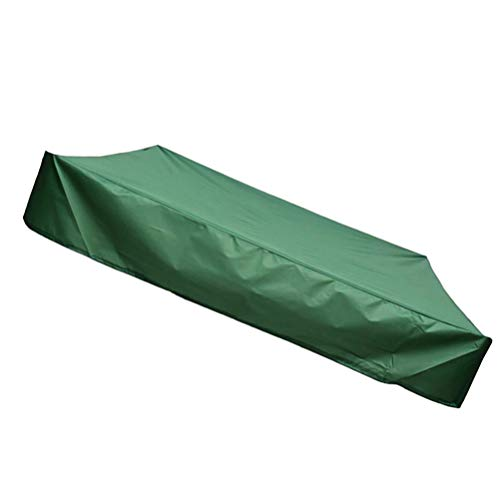 Hemoton Sandbox Cover Square Dustproof Protection with Drawstring Oxford Cloth Waterproof Multi-Purpose Sandpit Pool Cover Outdoor Garden Dust Cover 120cm