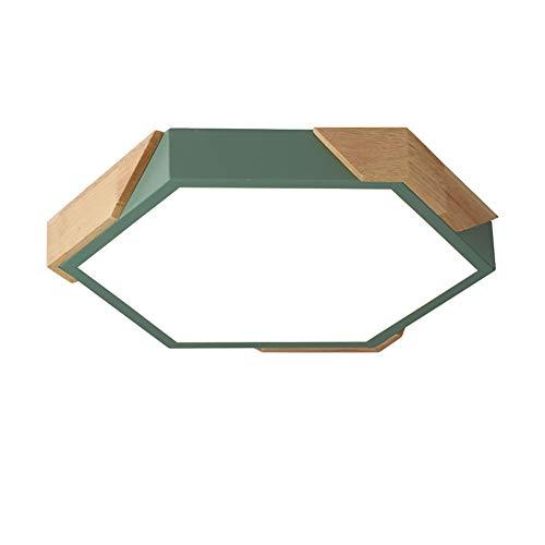 Moderno Plafoniera Dimmerabile 12inch Minimalista LED Esagono Legno Incasso Lampada Da Soffitto Con Telecomando 36w 3000k Bianco Caldo-Luce Bianca Calda 30cm(12inch)