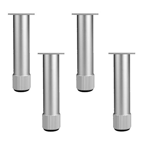 Pieds de meubles Pied De Support De Meubles D'Alliage D'Aluminium 4pcs Et Pieds RéGlables De Table De Canapé - Hauteur 6~40cm en Option