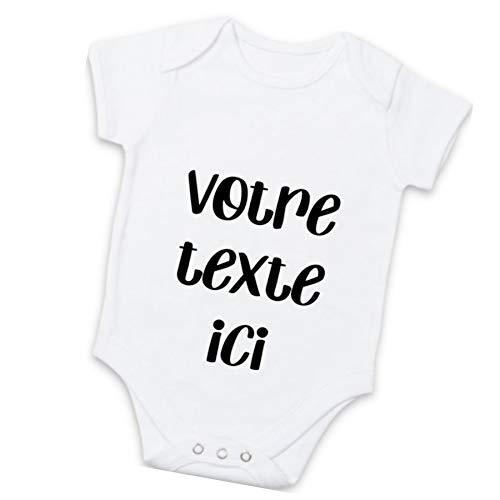 Body bébé personnalisable avec votre message - Message au...