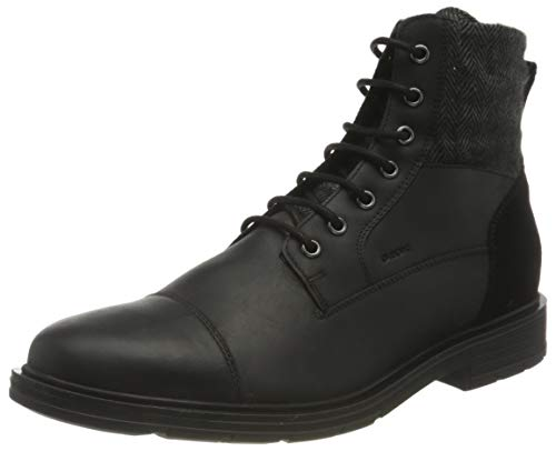 Geox Herren U ALBERICK B Ankle Boot, Black, 42 EU