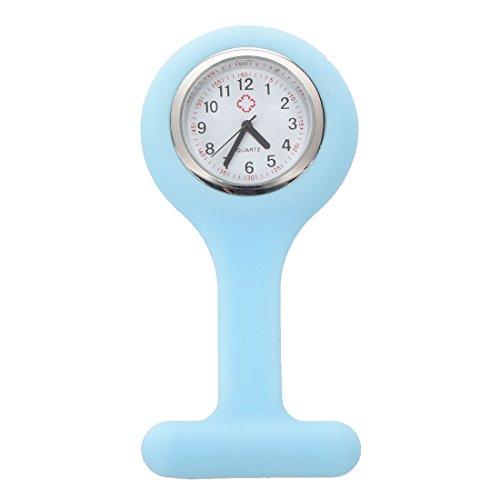 Huante - Reloj de bolsillo de silicona para enfermera, con luz azul