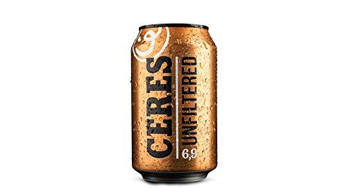 Ceres Unfiltered 33cl, 6,9% vol. Birra danese non filtrata doppio malto. Confezione da 24 lattine x 33cl.