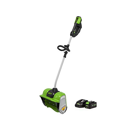 Greenworks 2607002AZ 40V 12-Inch Brushless Snow Shovel 6Ah Battery and Charger Included