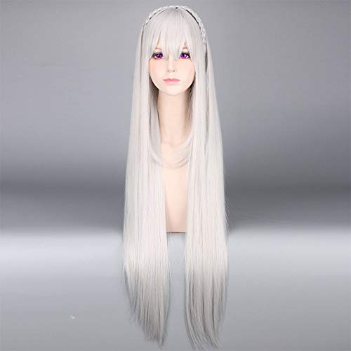 Peluca Blanca Larga marca MQSS