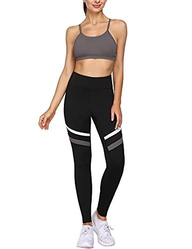 Wayleb ConjuntoChandal Mujer Completo Conjuntos Deportivos Mujer 2 Piezas Conjunto Sujetador Top Y Leggings Pantalones de Cintura Alta Conjunto de Ropa de Deporte Sportwear para Yoga Gym Running