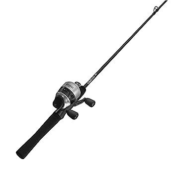 Zebco 33 Spincast Reel and Fishing Rod Combo 6-Foot 2-Piece Fiberglass Rod with EVA Handle Quickset Anti-Reverse Fishing Reel with Bite Alert Silver/Black