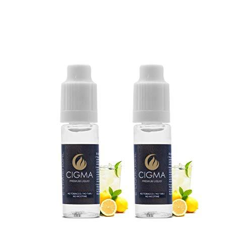CIGMA 2 x 10 ml E-Liquid   Zitronensoda   Neue Premiumqualitätsformel mit nur wertvollen Inhaltsstoffen   Combo Pack   Für elektronische Zigaretten und Shishas