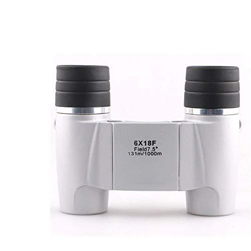 TnSok Binoculares Impermeables compactos Los prismáticos de Bolsillo de la visión Nocturna de HD portátil de luz Baja para la observación de Aves Recorrido de la Caza Juegos de Fútbol