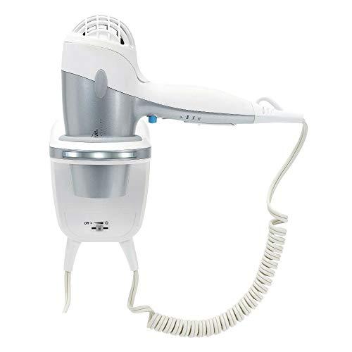 Sunbeam HD3003-001 1500 Watt Wall Mount Hair Dryer with LED Night Light