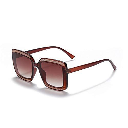 SXRAI Gafas de Sol cuadradas Mujer Gafas de Sol extragrandes Siameses Gafas de Sol Mujer/Hombre Lentes degradados,C3