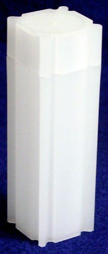 100 Coin Safe Square Coin Tubes for 40 NICKELS by DOMAGRON