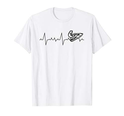 Jet Ski Heartbeat Stand Up Racing T-Shirt