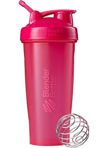 BlenderBottle Classic Loop Shaker mit BlenderBall, optimal geeignet als Eiweiß Shaker, Protein Shaker, Wasserflasche, Trinkflasche, BPA frei, skaliert bis 600 ml, 820 ml, fashion pink