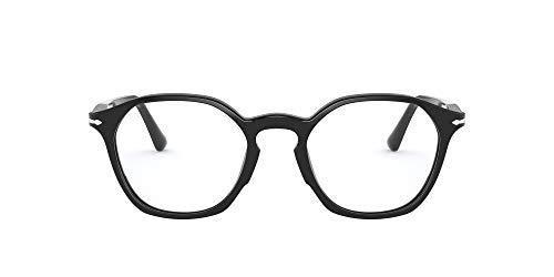 Persol PO3238V Irregular Prescription Eyeglass Frames, Black/Demo, 50 mm