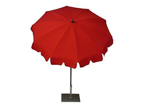 Maffei Art 84 Allegro, Parasol Rond diamètre cm 200, Tissu Dralon, Made in Italy. EXCLUSIVITE Couleur Rouge