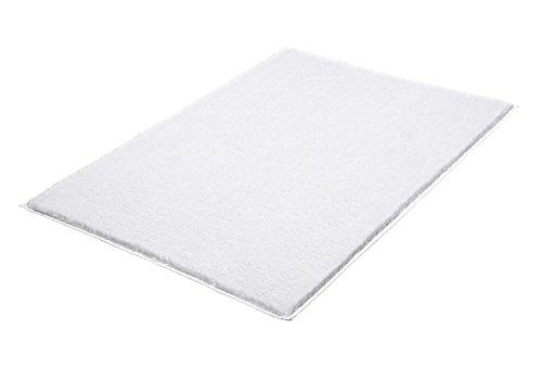 Kleine Wolke 4018100225 Badteppich Kansas, 70 x 120 cm, weiß