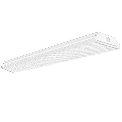 TychoLite 4FT Led Shop Light 40W 4 Foot Led Light Fixture, 4800 Lumens, 4000K Neutral White, 48 Inch Flush Mount Wraparound Light for Garage, 120W Fluorescent Equivalent, 1 Pack
