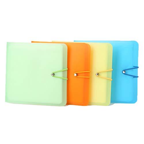 SUSHUN 12 mangas DVD disco llevar cartera color caramelo caja titular almacenamiento cubierta bolsa