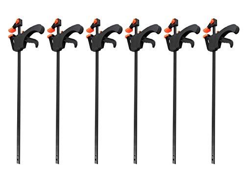 6x Einhandzwingen Set 65x450mm Nylon Klemmzwingen Schnellspannzwingen 2149656