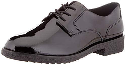 Clarks Griffin Lane, Scarpe Stringate Derby Donna, Nero Black Pat, 40 EU