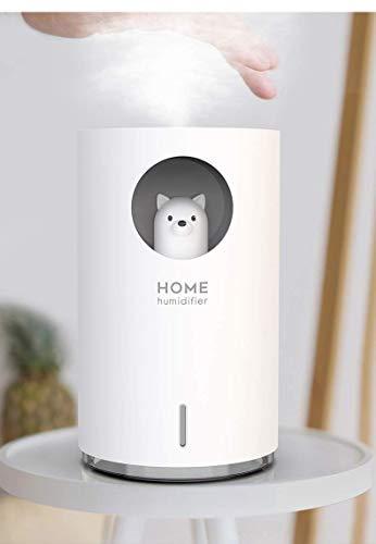 Xinmeimaoyi Aerosol para coche peque?o Cute Pet Ultrasonic Mini humidificador silencioso de escritorio, Instrumento de hidratación facial portátil Humidificador purificador de aire Luz nocturna para d