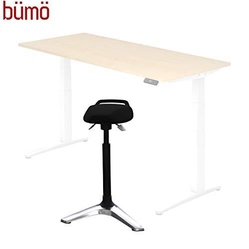 BÜMÖ® Staande hulp voor elektrisch verstelbaar bureau | professionele staande stoel in hoogte verstelbaar | stoel voor statafel counterstoel kassa stoel staande stoel zwart