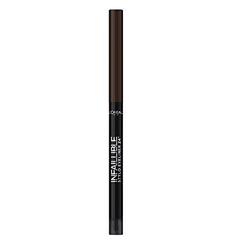 L'Oréal Paris Infaillible Eyeliner, 300 Chocolate Addiction - Eyeliner Stift mit besonders cremiger Textur und integriertem Applikator - farbintensiv und wasserfest, 16h Halt! - 1er Pack (1 x 3 ml)