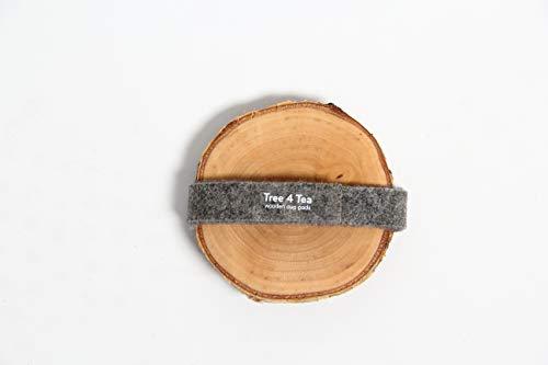 Rio Lindo 4 Holz Untersetzer \'Tree4Tea\' Ø 9-12cm in Premium Qualität / 100{d9dd497f555b264da5698f54b87598f5a5b02c1571591b1c6e4f2cf1a6e69646} Handarbeit/Unikat/Gläser/Tassen/Tisch/Deko/Hochzeit/DIY/Geschenk - Aus Birke