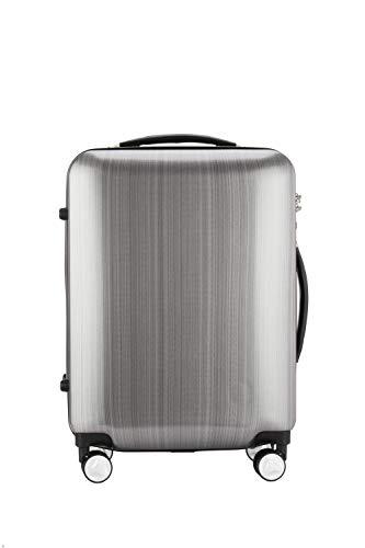 NIHAOA Aufbewahrungskiste Reise Boarding Gepäck Herren- und Damen-Geschäft Boarding Box Silber Universal-Rollen Box PC Material Single Pol Koffer 20 Zoll.