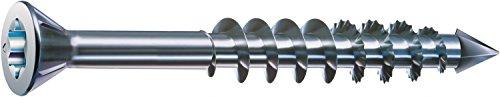 SPAX-M, MDF Schrauben, 3,5 x 45 mm, 200 Stück, T-STAR plus, Senkkopf, Kleiner Fräskopf, Teilgewinde, CUT-Spitze, WIROX A3J, blank verzinkt, 0441010350453