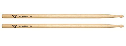 7. Vater 5A Wood Tip Hickory Drum Sticks