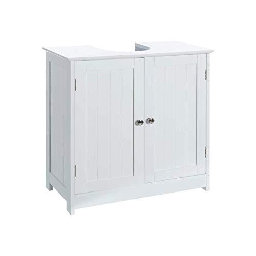 Hogar & Mas wastafelonderkast van hout, onderkast, wit, 60 x 30 x 60 cm