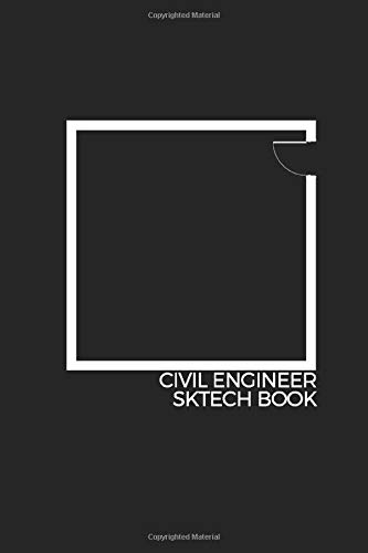 Funny Civil Engineer SketchBook , birthday gift: 1/2 Lined book / sketchbook / journal gift ,120 Page , 6x9 in,Soft cover ,Matte finish.