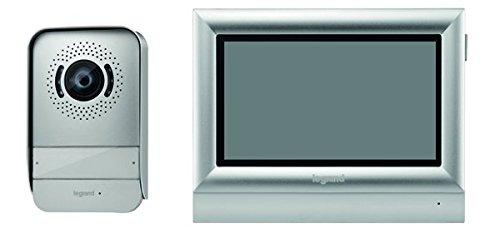 Legrand, Video-Türsprechanlage mit 2-Draht-Anschluss, 10 Zoll Farb-Touchscreen und Weitwinkelkamera, 1-/2-Familienhaus-Set, 369330