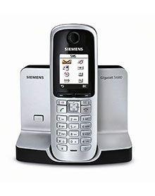 Siemens Gigaset S680 schnurloses DECT-Telefon mit beleuchtetem Farbdisplay und Bluetooth titanium