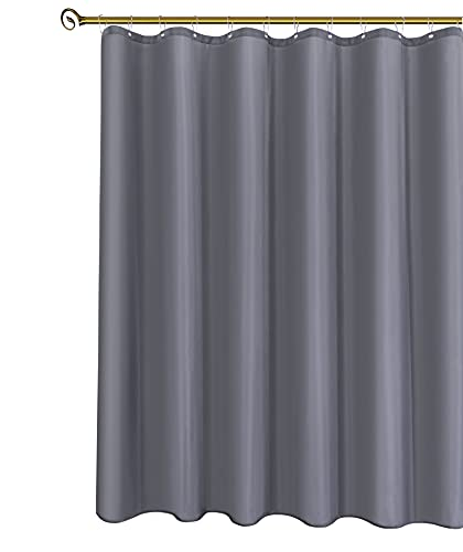 Biscaynebay Hotel Quality Fabric Shower Curtain Liner 72 Inch by 72 Inch, Dark Grey Water Resistant Bathroom Curtains Liners, Rust Resistant Grommets Top Weighted Bottom Hem Machine Washable