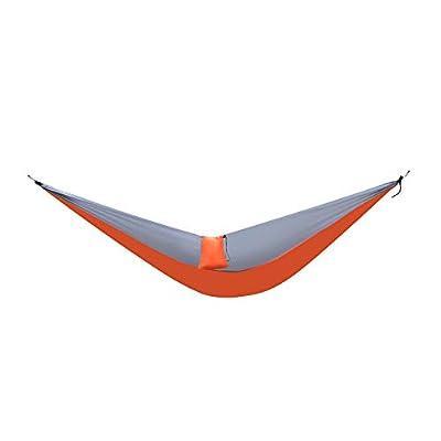 Nylon Parachute Fabric Double Hammock (Orange & Gray)
