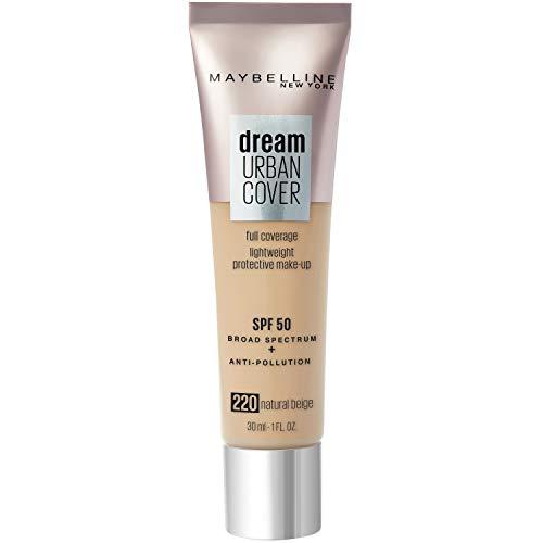 Maybelline New York - Perfecteur de Teint - Protection Anti-UV & Anti-Pollution - Dream Urban Cover - Teinte : Beige Naturel (220) - 30 ml